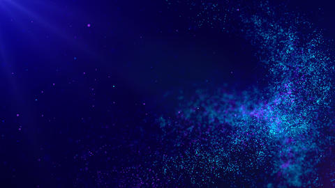 Abstract Blue Particles Background 애니메이션