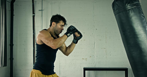 Athletic Male Boxing Slow Motion GIF