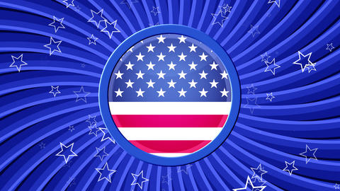 US Patriotic Stars and Stripes Blue Animation