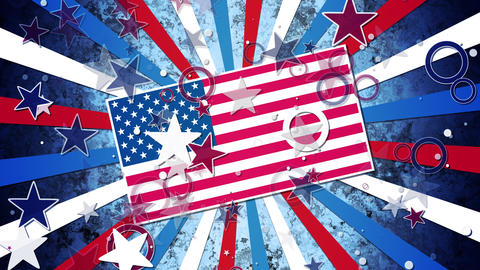 US Patriotic Grunge Flag Animation