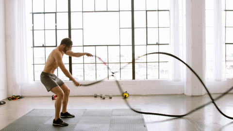 Athletic Man Working Out Footage
