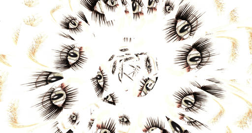 Digital Animation of kaleidoscopic Eyes Animation