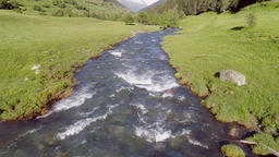 Mountain stream in the Pyrenees mountains Catalonia Spain Footage