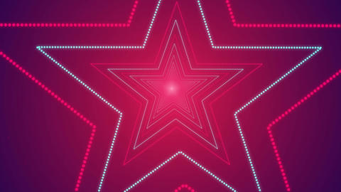Star Shape Seamless Looped Tunnel Zoom Romantic Background for your event, title GIF