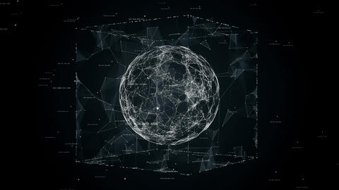 sphere in cube seamless loop animation Animation