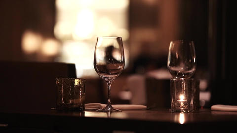 Restaurant wine glasses glass Footage