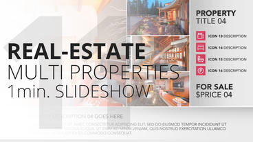 Real-Estate Multi Properties 1min Slideshow 11 - Apple Motion and Final Cut Pro Apple Motion Template