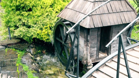 Old traditional water mill in southeast Europe ビデオ