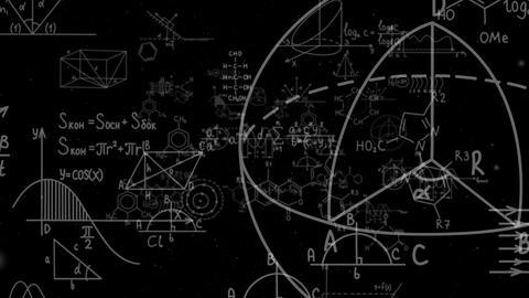 Fly Through Formulas Black 4K Animation