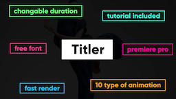 Titler Motion Graphics Template