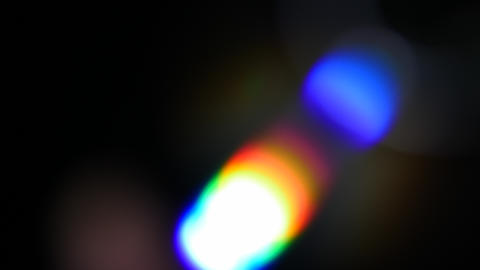 Colorful light leaks in rgb colors for transitions in video composing. Rainbow Live Action