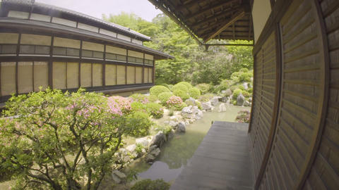 Point of View tour through a Japanese Temple Footage