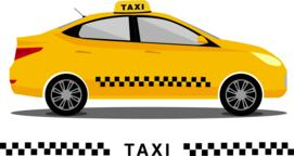 Yellow isolated taxi cab car Vector