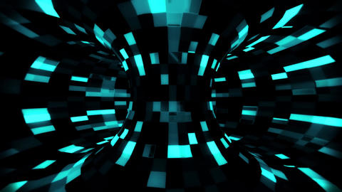 3D Ice Blue Sci-Fi Torus AI - Arificial Intelligence - VJ Loop Background Animation