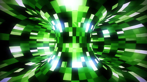 3D Green Sci-Fi Torus AI - Arificial Intelligence - VJ Loop Background Animation