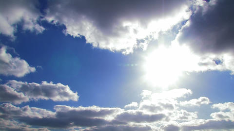 Sun And Clouds. Timelapse stock footage