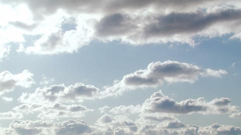 Light clouds. Time lapse Footage