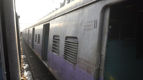 Railway compartment - Indian railway Footage