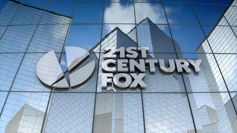 Editorial, 21st Century Fox logo on glass building Animation