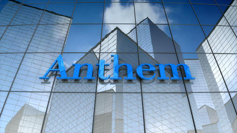 Editorial, Anthem Inc. logo on glass building Animation