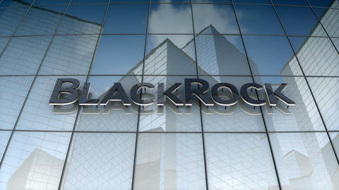 Editorial, BlackRock, Inc. logo on glass building Animation