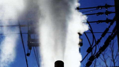 Pipe steam industry exhaust fumes Live Action