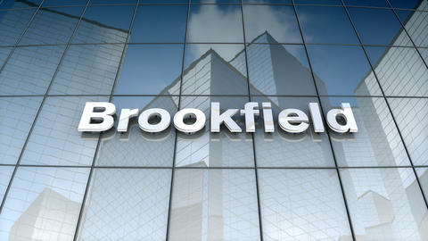 Editorial, Brookfield Asset Management, Inc. logo on glass building Animation