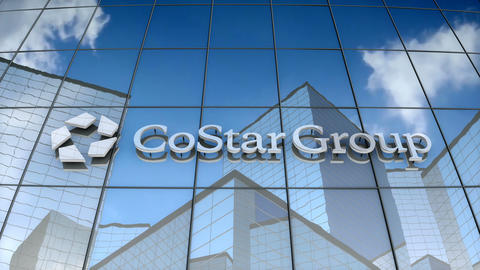Editorial, CoStar Group, Inc. logo on glass building Animation
