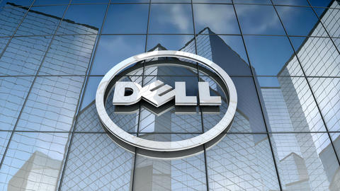 Editorial, Dell logo on glass building Animation