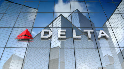 Editorial, Delta Air Lines, Inc. logo on glass building Animation