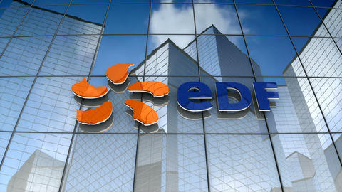 Editorial, EDF Energy logo on glass building Animation