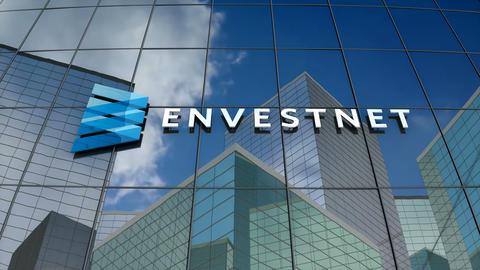 Editorial, Envestnet Inc. logo on glass building Animation