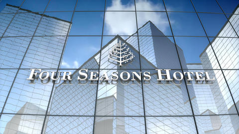 Editorial, Four Season Hotels Ltd logo on glass building Animation
