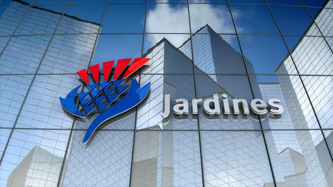 Editorial, Jardine Matheson Holdings Limited logo on glass building Animation