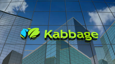 Editorial, Kabbage Inc. logo on glass building Animation