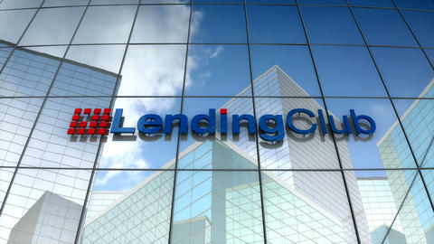 Editorial, LendingClub logo on glass building Animation