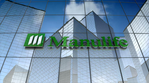 Editorial, Manulife Financial Corporation logo on glass building Animation