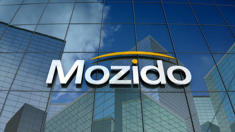 Editorial, Mozido, LLC logo on glass building Animation