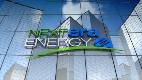 Editorial, NextEra Energy, Inc. logo on glass building Animation