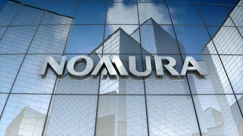 Editorial, Nomura Holdings, Inc. logo on glass building Animation