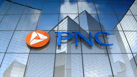 Editorial, PNC Financial Services Group, Inc. logo on glass building Animation