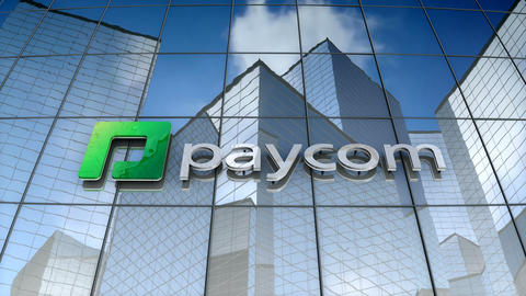 Editorial, Paycom Software Inc. logo on glass building Animation
