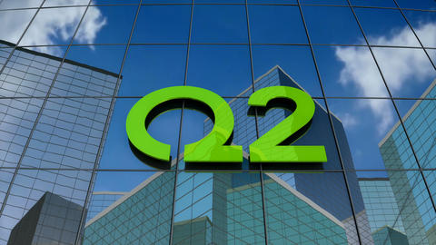 Editorial, Q2 logo on glass building Animation