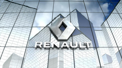 Editorial, Groupe Renault logo on glass building Animation