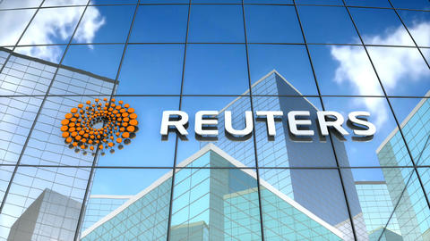 Editorial, Reuters logo on glass building Animation