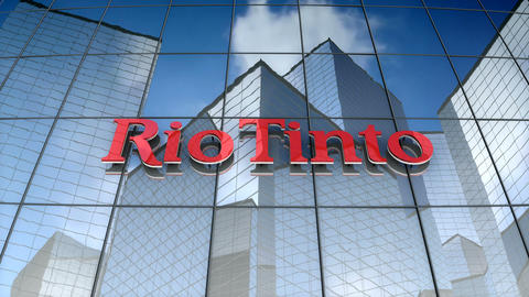 Editorial, Rio Tinto Group logo on glass building Animation
