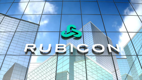 Editorial, Rubican Global logo on glass building Animation