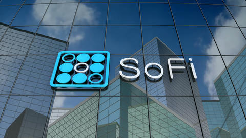 Editorial, Social Finance Inc. logo on glass building Animation