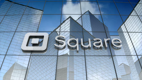 Editorial, Square, Inc. logo on glass building Animation