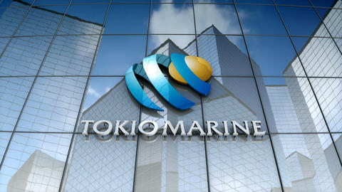 Editorial, Tokio Marine Holdings, Inc. logo on glass building Animation